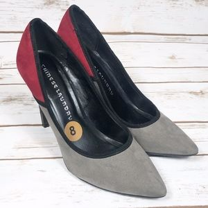 Chinese Laundry Grey and Red Heels